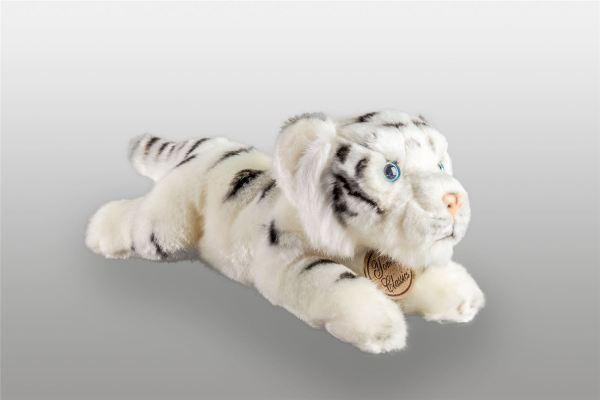 "Yomiko Classic White Tiger Cat 14"" Stuffed Animal Russ"