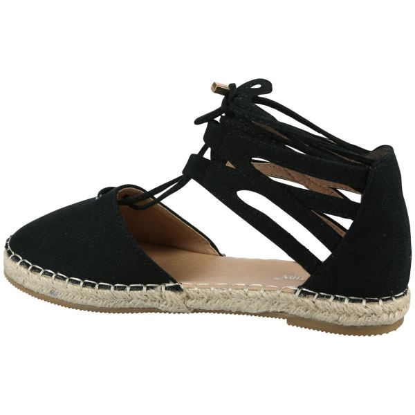 Augusta Womens Flats Lace Tie Ankle Cuff Sandals Shoes
