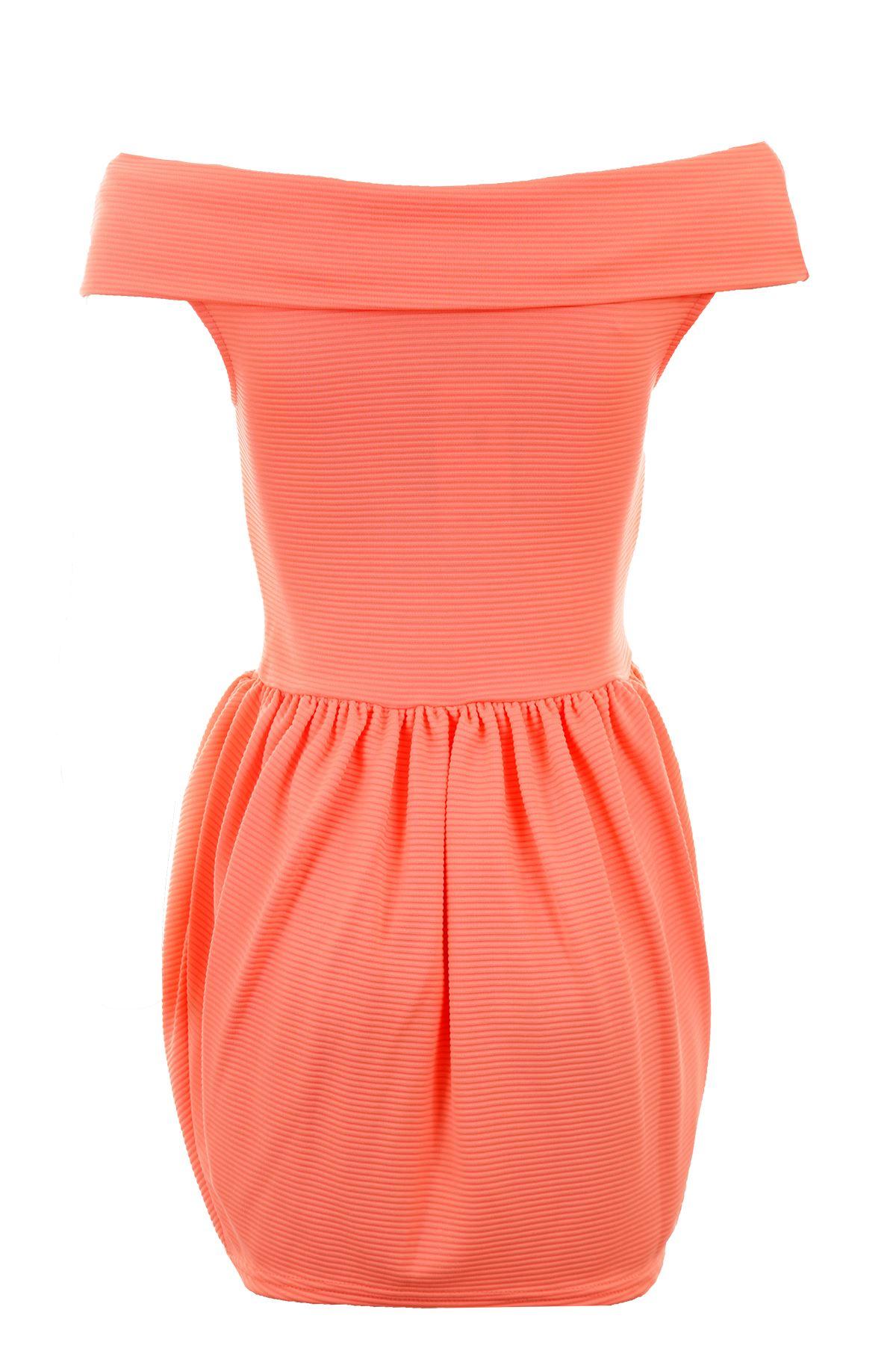 Kleid orange schulterfrei  Stilvolle Jugendkleidung