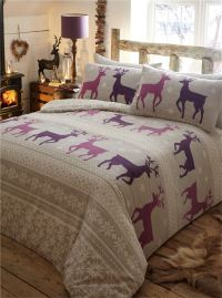 100% Brushed Cotton Flannelette Quilt Duvet Cover Bedding ...