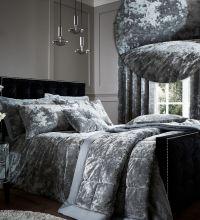 Catherine Lansfield Crushed Velvet Duvet Cover Bedding Bed ...
