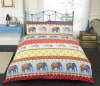 Indian Style Elephant Quilt Duvet Cover & Pillowcase