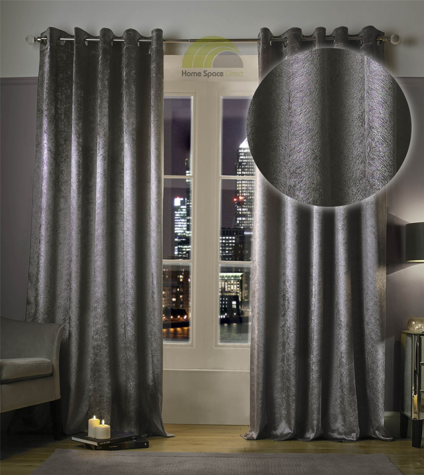 Kylie Minogue Curtains Ready Made Lined Eyelet Ring Top Designer