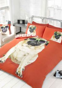 Pug Dog Quilt Duvet Cover Or Cushion Cover Bedding Bed ...
