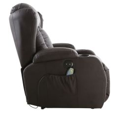 Heated Chair Cover For Recliner Gray Covers Weddings Caesar Brown Electric Leather Auto Massage