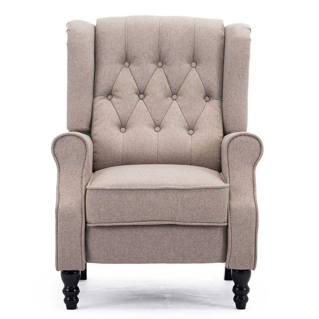 Wingback Recliner Chair Details About Althorpe Wing Back Recliner Chair Fabric Button Fireside Occasional Armchair
