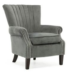 Accent Bedroom Chairs Chair Exercises Pdf Olenka Velvet Wing Back Occasional Armchair