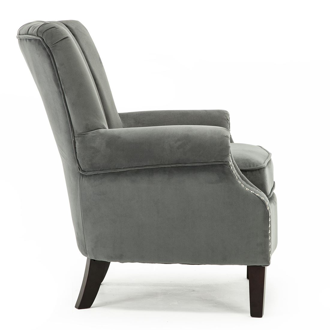 Armchairs & Accent Chairs Olenka Velvet Wing Back Occasional Accent Bedroom Armchair