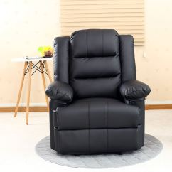 Recliner Gaming Chair Beach Cup Holder Loxley Leather Armchair Sofa Home Lounge
