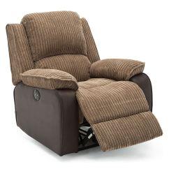 Electric Reclining Chair Office Comfortable Postana Jumbo Cord Fabric Power Recliner Armchair