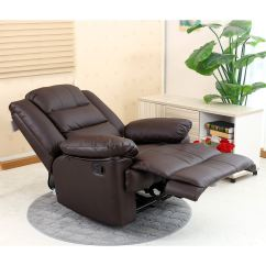 Recliner Gaming Chair Wooden Beach Chairs Loxley Leather Armchair Sofa Home Lounge