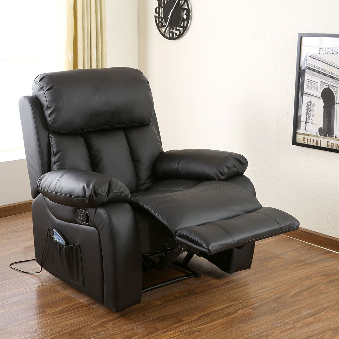 recliner gaming chair ace bayou bean bag chester heated leather massage sofa lounge