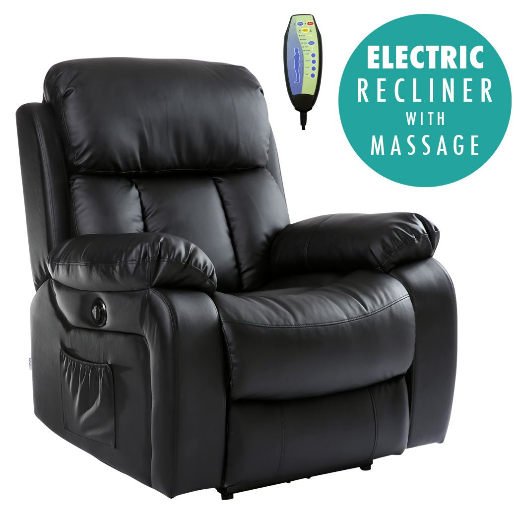electric recliner sofa not working blue velvet chester black heated leather massage power
