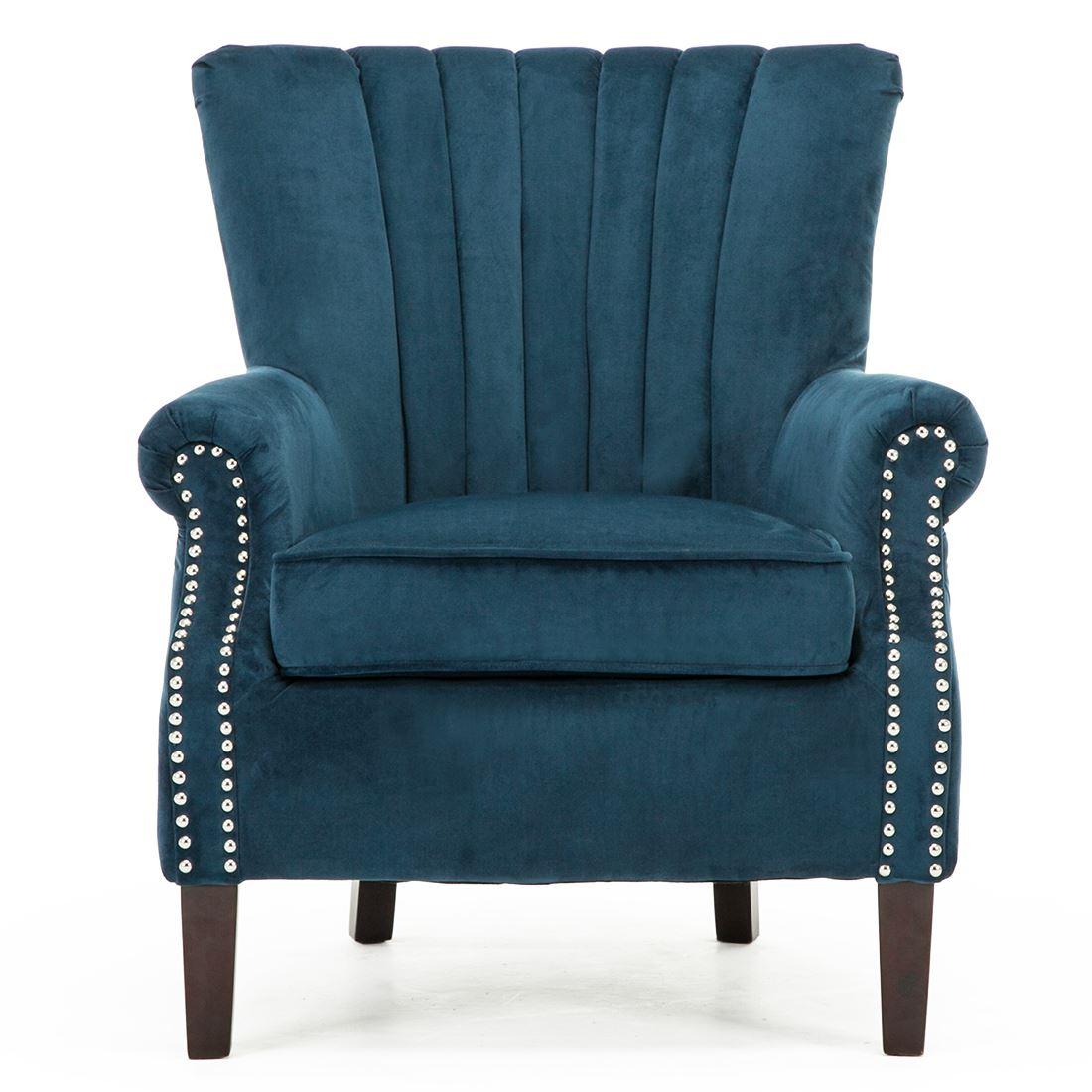 bedroom chair on ebay caravan canopy zero gravity olenka velvet wing back occasional accent armchair