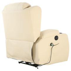Electric Chair Heater Foam Folding Bed Ikea Sale Caesar Cream Leather Auto Recliner Massage Heated