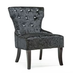 Bedroom Chairs Ebay Chair Gym Floor Mat Rheya Crushed Velvet Wing Back Occasional Accent