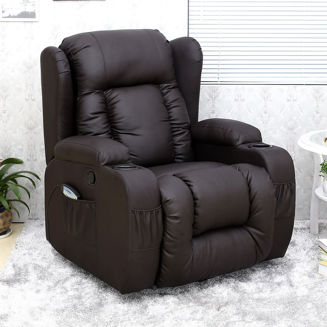 swivel reclining chairs uk beach for kids caesar 10 in 1 winged leather recliner chair rocking