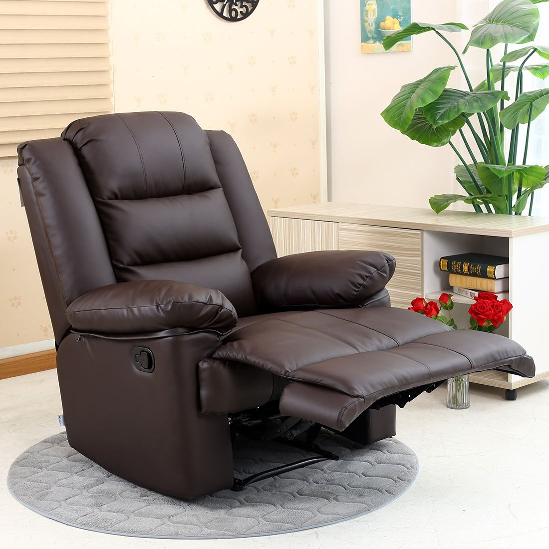 reclining gaming chair hanging wicker egg with stand loxley leather recliner armchair sofa home lounge