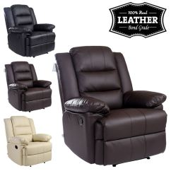 Recliner Chairs Uk Commercial Pool Lounge Loxley Leather Armchair Sofa Home Chair