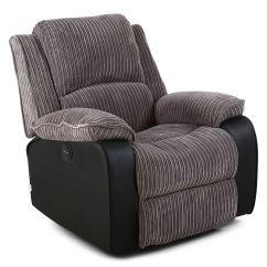 Electric Reclining Chair Design Calculation Postana Jumbo Cord Fabric Power Recliner Armchair