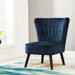 Tub Accent Chair Ebay Wing Covers Eline Velvet Button Back Retro Occasional Bedroom