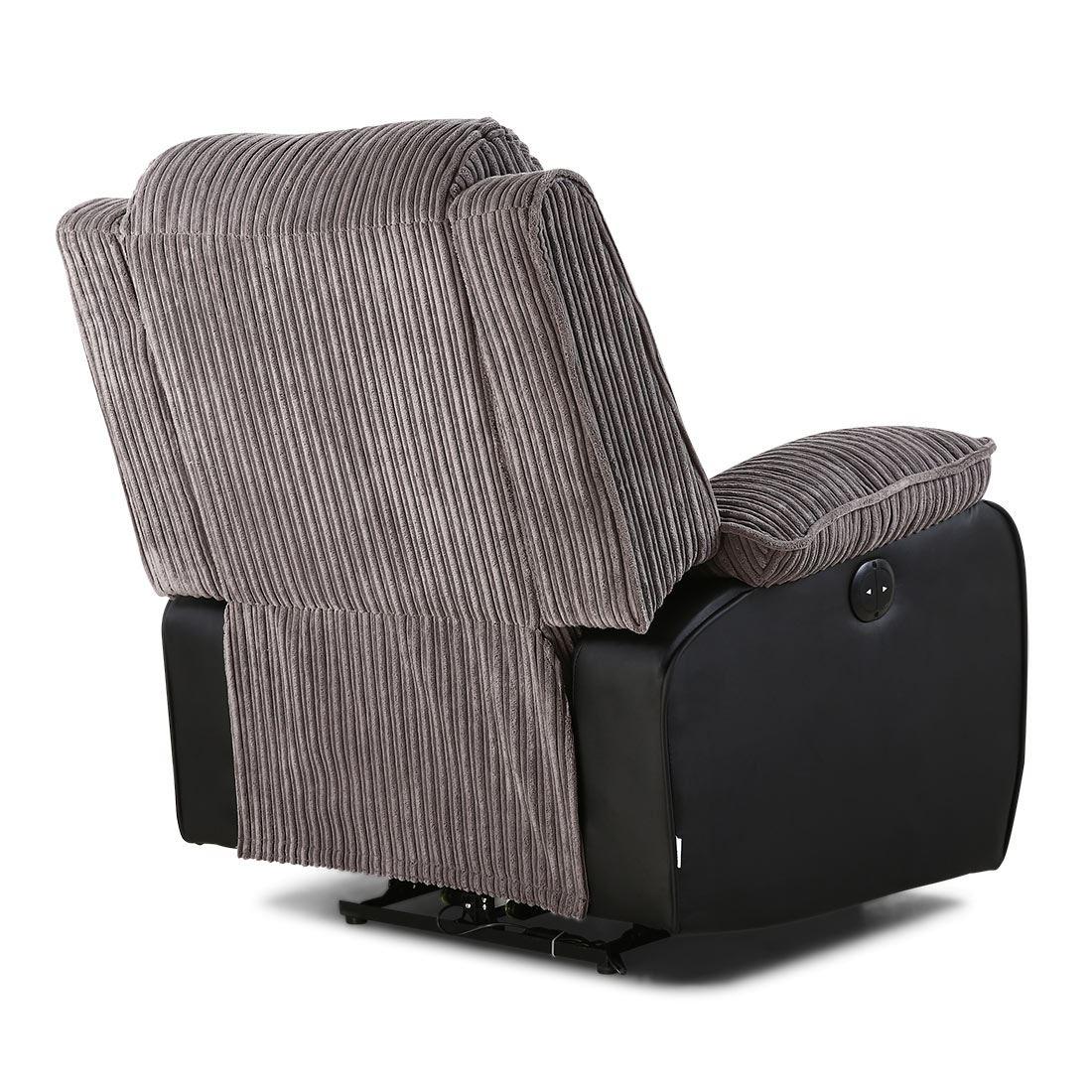 power recliner chairs uk baby tailgate chair postana jumbo cord fabric armchair electric
