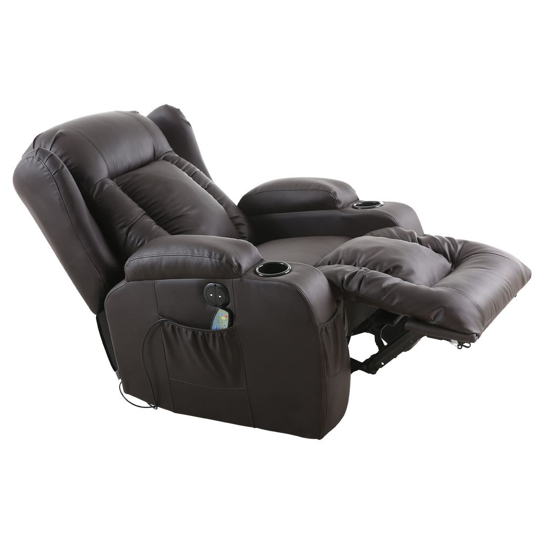 Massage Chair For Car Caesar Brown Electric Leather Auto Recliner Massage Heated
