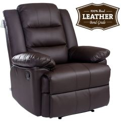 Recliner Gaming Chair Restaurant Supply Chairs Loxley Leather Armchair Sofa Home Lounge
