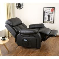 CHESTER HEATED LEATHER MASSAGE RECLINER CHAIR SOFA LOUNGE ...