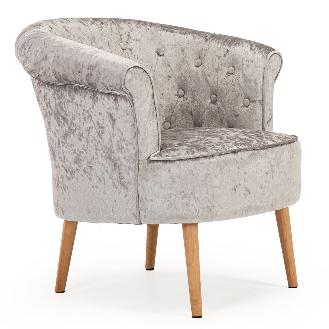 large tub chair sit stand reviews dahlia crushed velvet occasional accent bedroom lounge