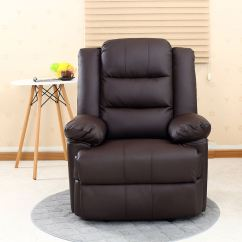 Reclining Video Game Chairs That Convert To A Bed Loxley Leather Recliner Armchair Sofa Home Lounge Chair