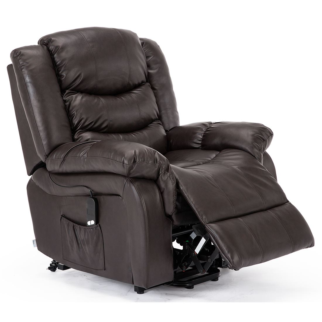 electric recliner sofa not working long table plans seattle rise real leather armchair