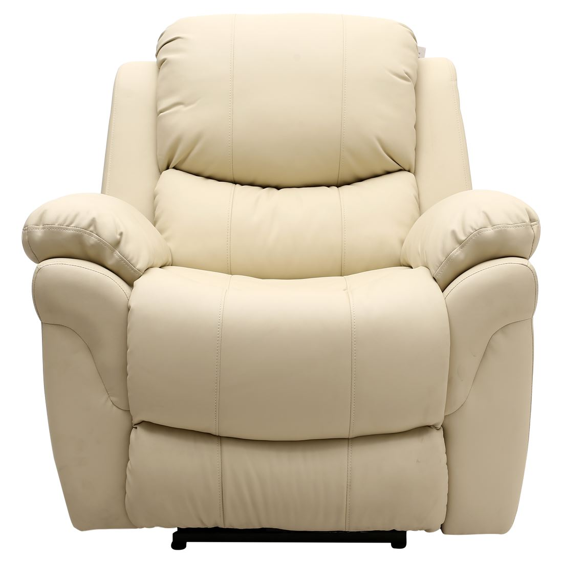Real Leather Recliner Chairs Madison Electric Cream Real Leather Auto Recliner Armchair