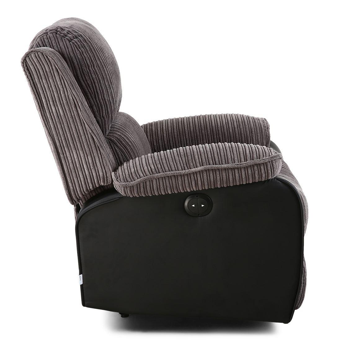 power recliner chairs uk folding chair menards postana jumbo cord fabric armchair electric