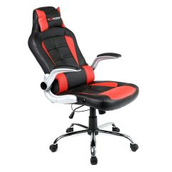 Reclining Office Chair With Footrest Uk How To Build Adirondack Chairs From Pallets Gtforce Blaze Leather Sports Racing Desk