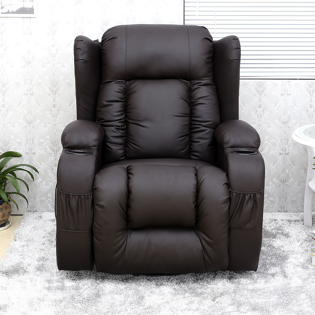 Leather Swivel Recliner Chairs Caesar 10 In 1 Winged Leather Recliner Chair Rocking