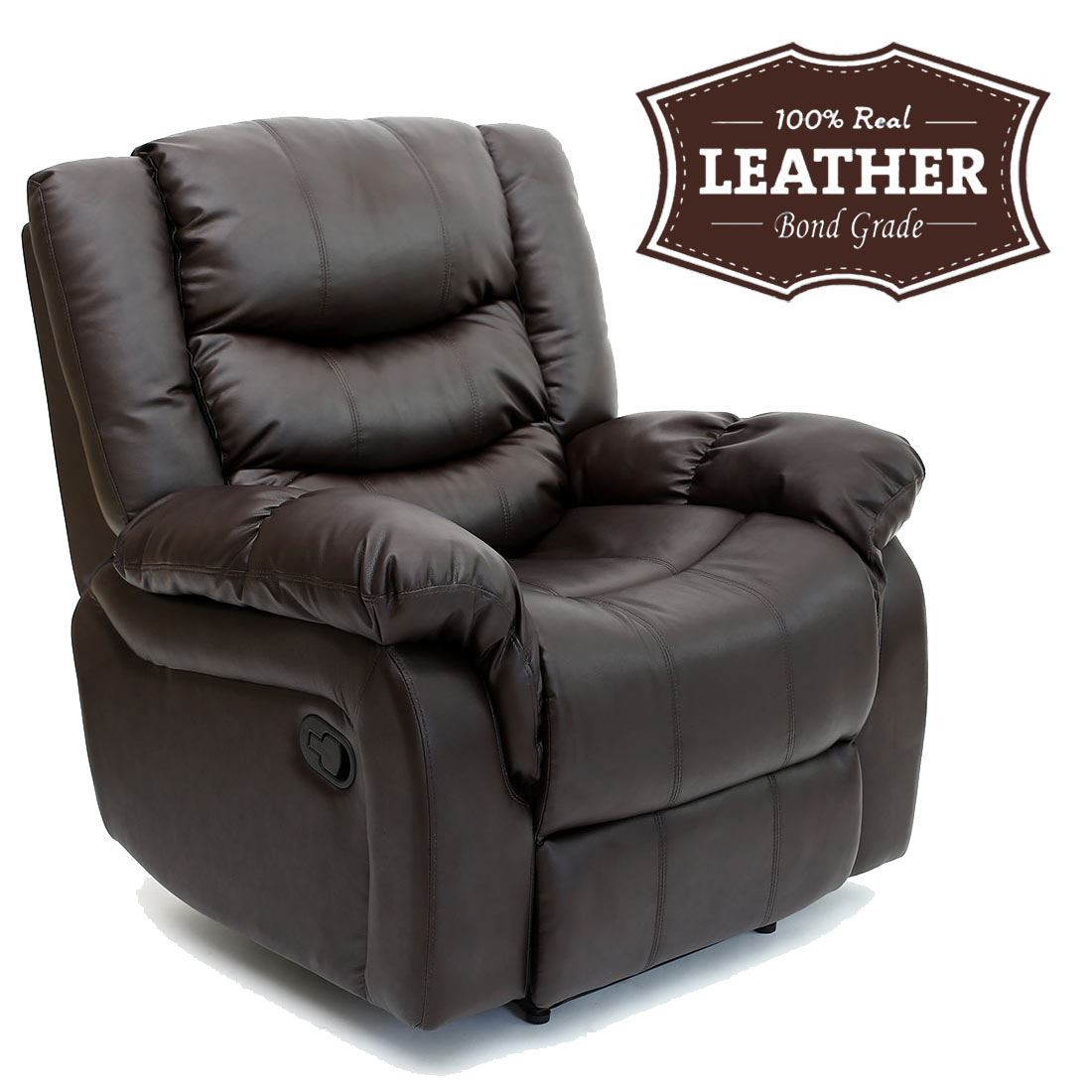 Leather Reclining Chair Seattle Leather Recliner Armchair Sofa Home Lounge Chair