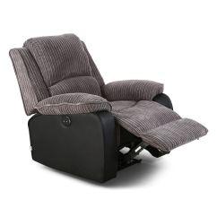 Electric Reclining Chair Wingback Office Desk Postana Jumbo Cord Fabric Power Recliner Armchair