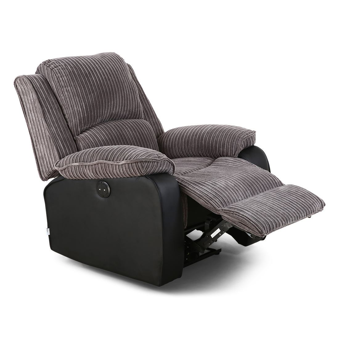 Electric Reclining Chair Postana Jumbo Cord Fabric Power Recliner Armchair Electric