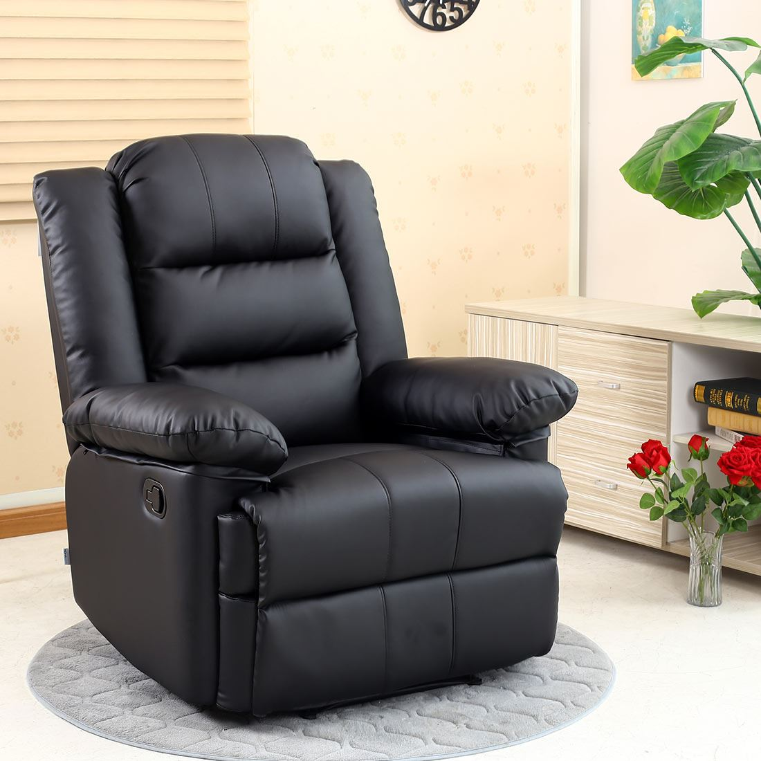 gaming chair ebay lazy boy office chairs depot loxley leather recliner armchair sofa home lounge