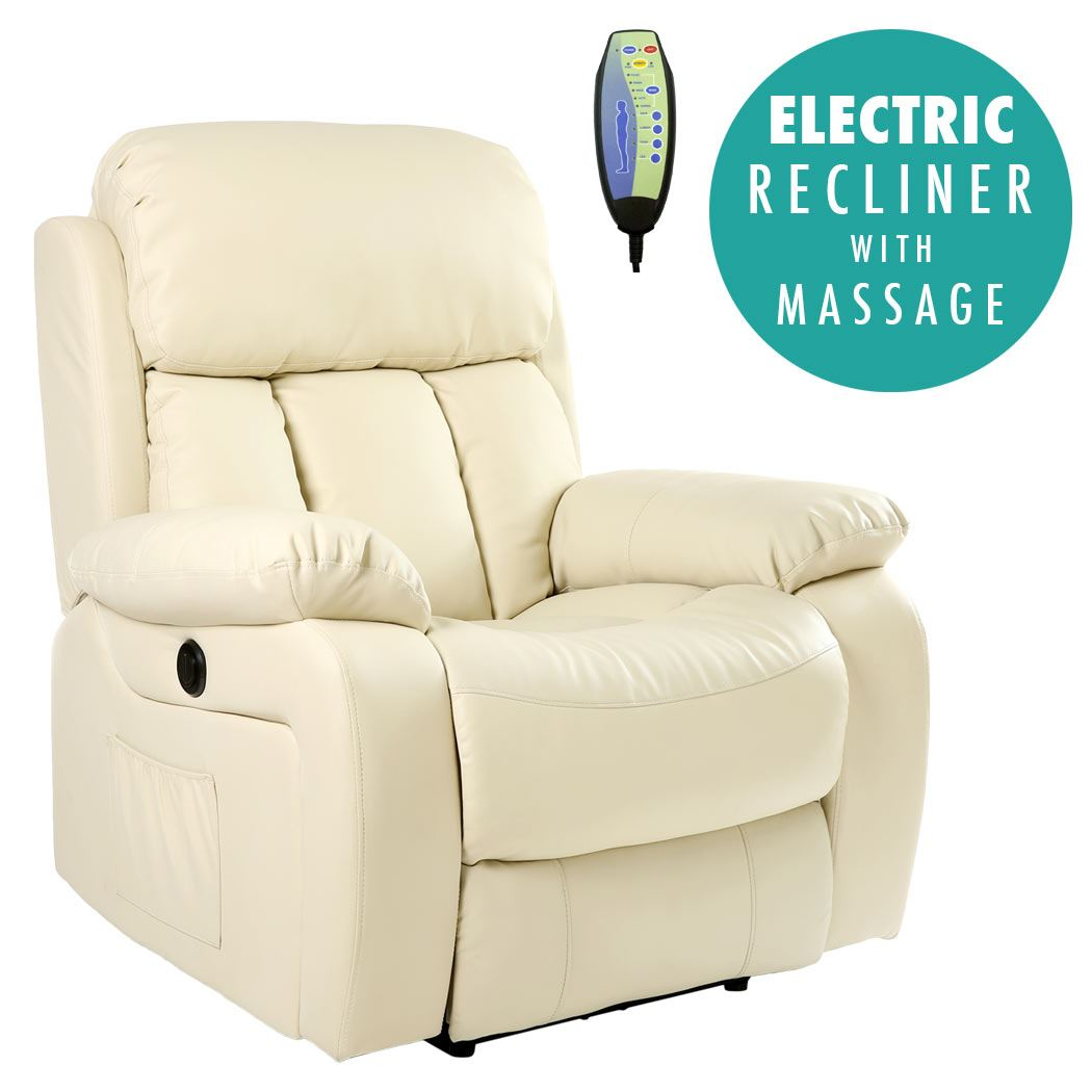 heated sofa recliner sure fit canvas slipcover chester electric leather massage chair