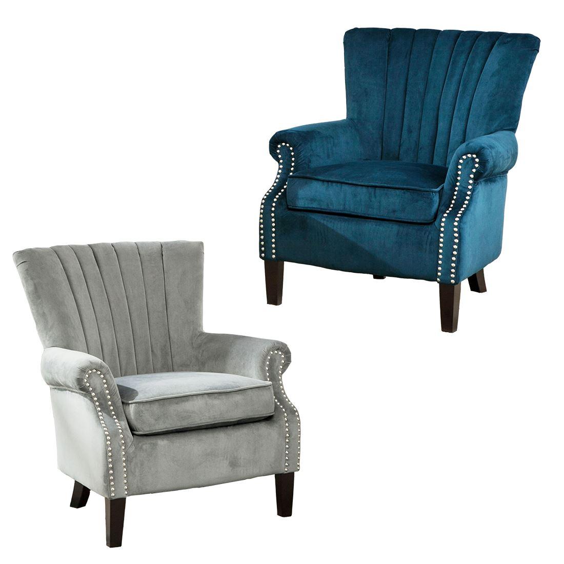 bedroom chair on ebay stand olenka velvet wing back occasional accent armchair