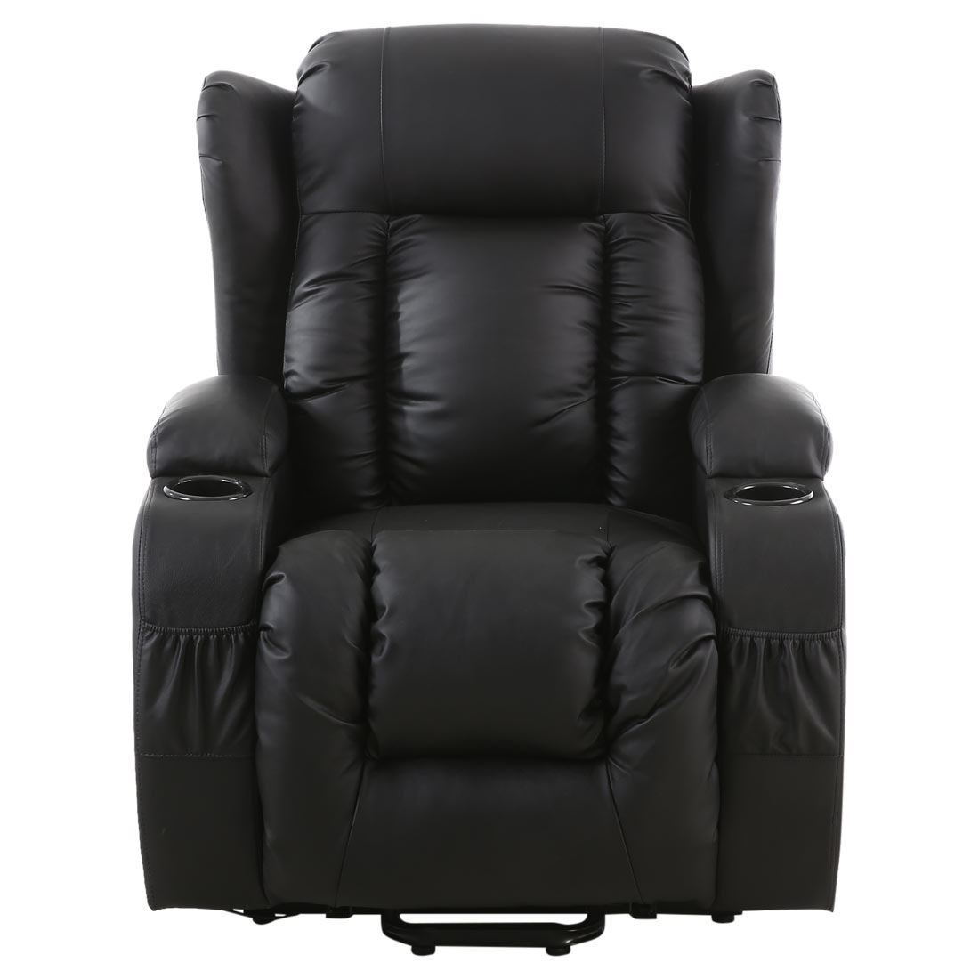 electric chair heater bean bag refill target caesar rise recliner winged leather armchair