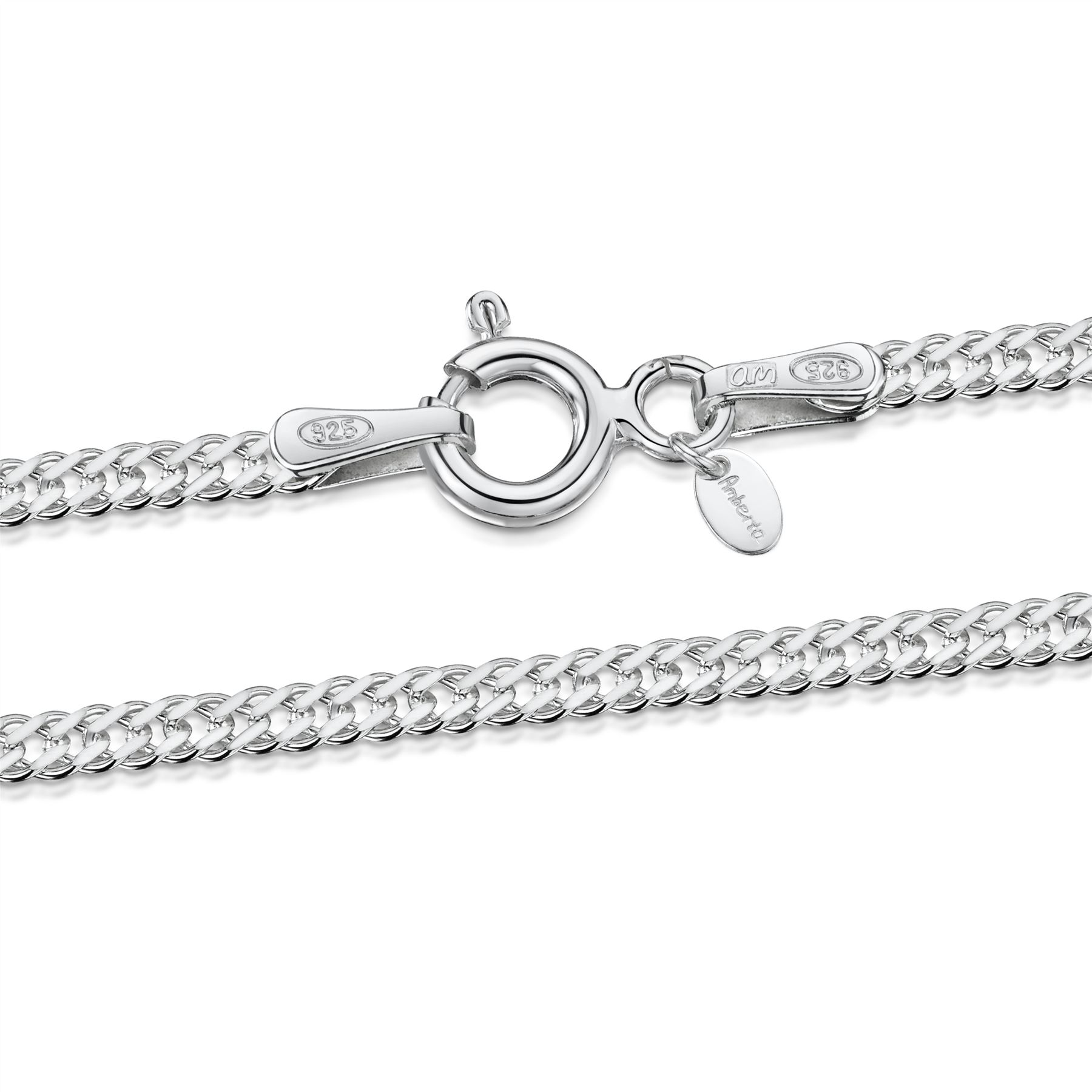 Amberta bijoux bracelet real 925 sterling silver chain for