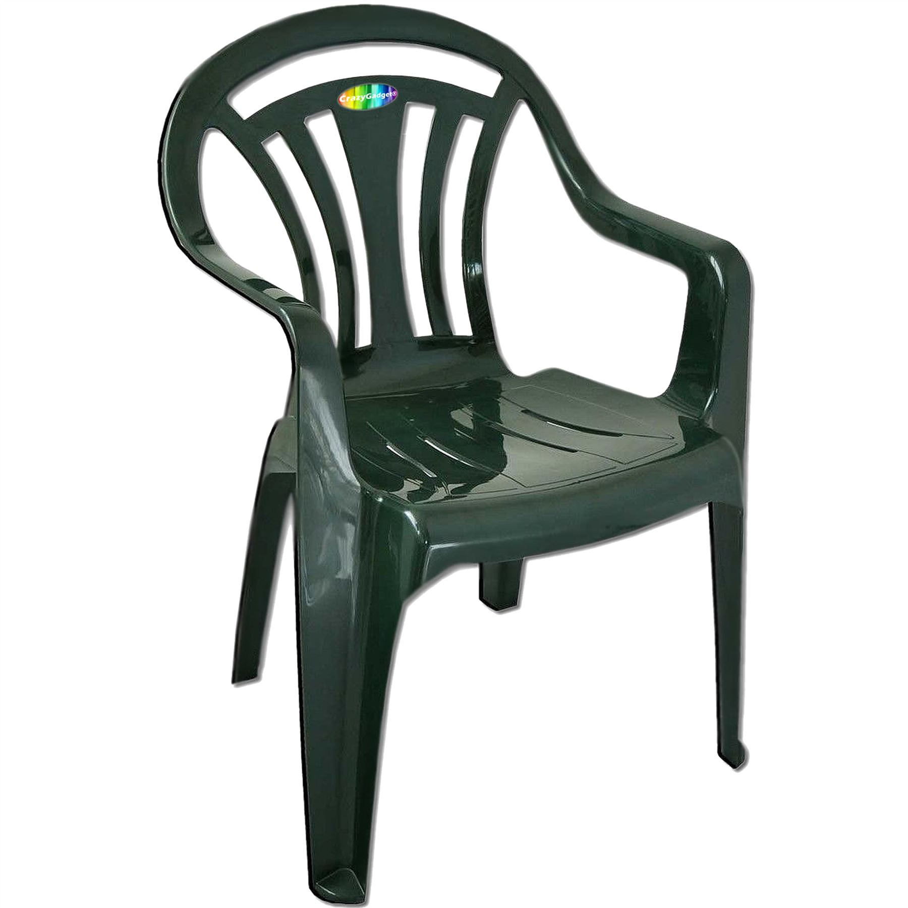 Plastic Outdoor Chair Plastic Garden Low Back Chair Stackable Patio Outdoor