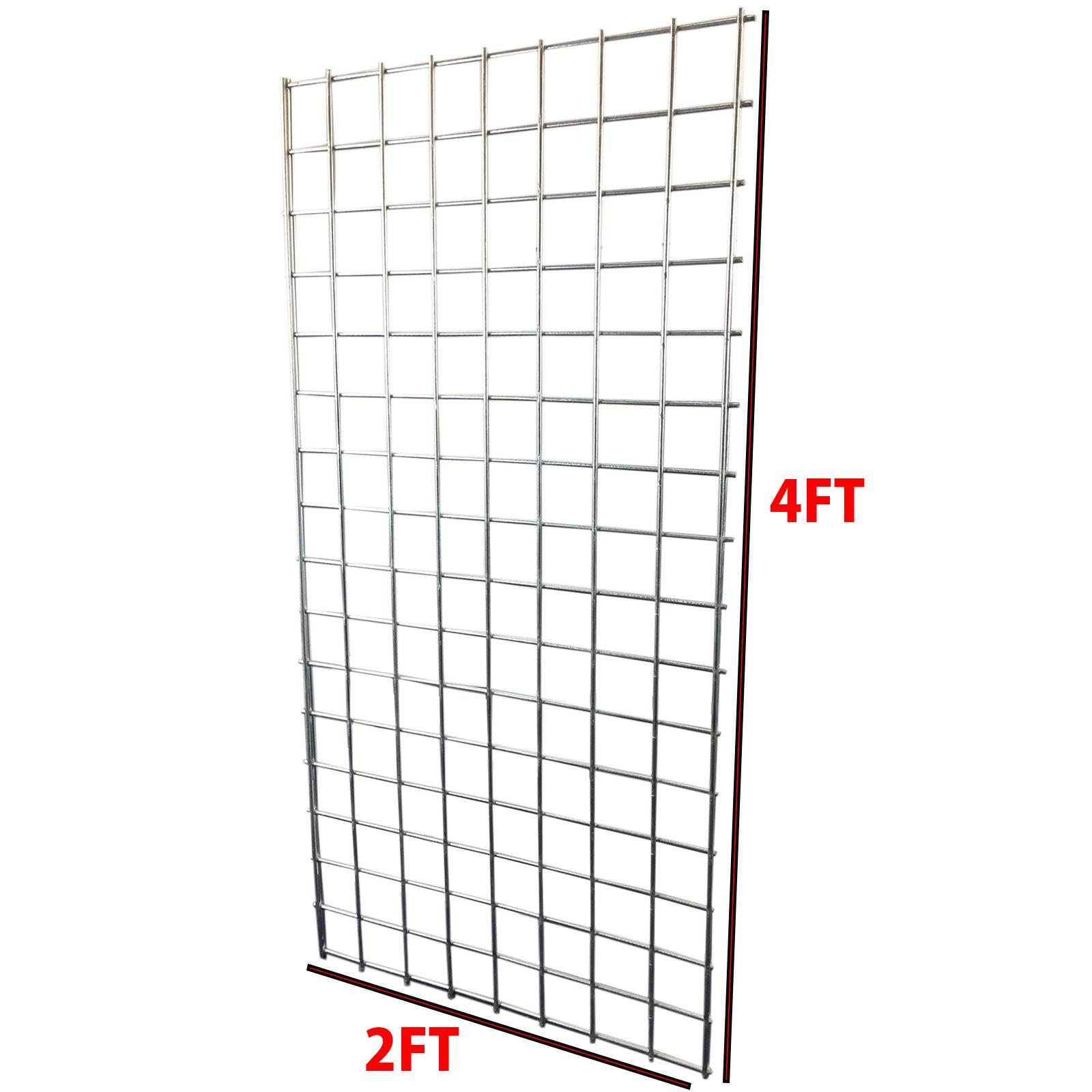 4ft X 2ft Heavy Duty Grid Wall Gridwall Mesh Steel Display