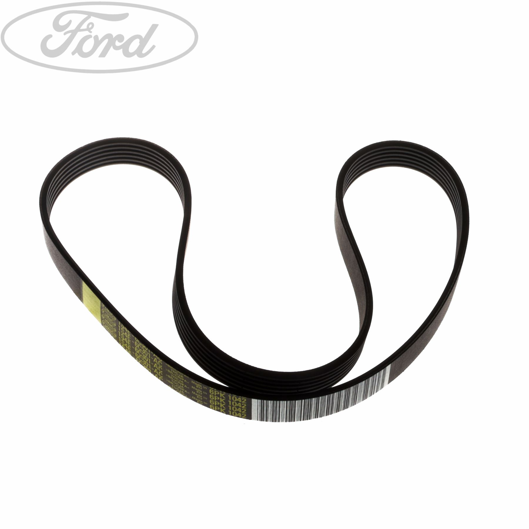 hight resolution of details about genuine ford focus mk1 fiesta mk6 fusion drive belt kit 1843766