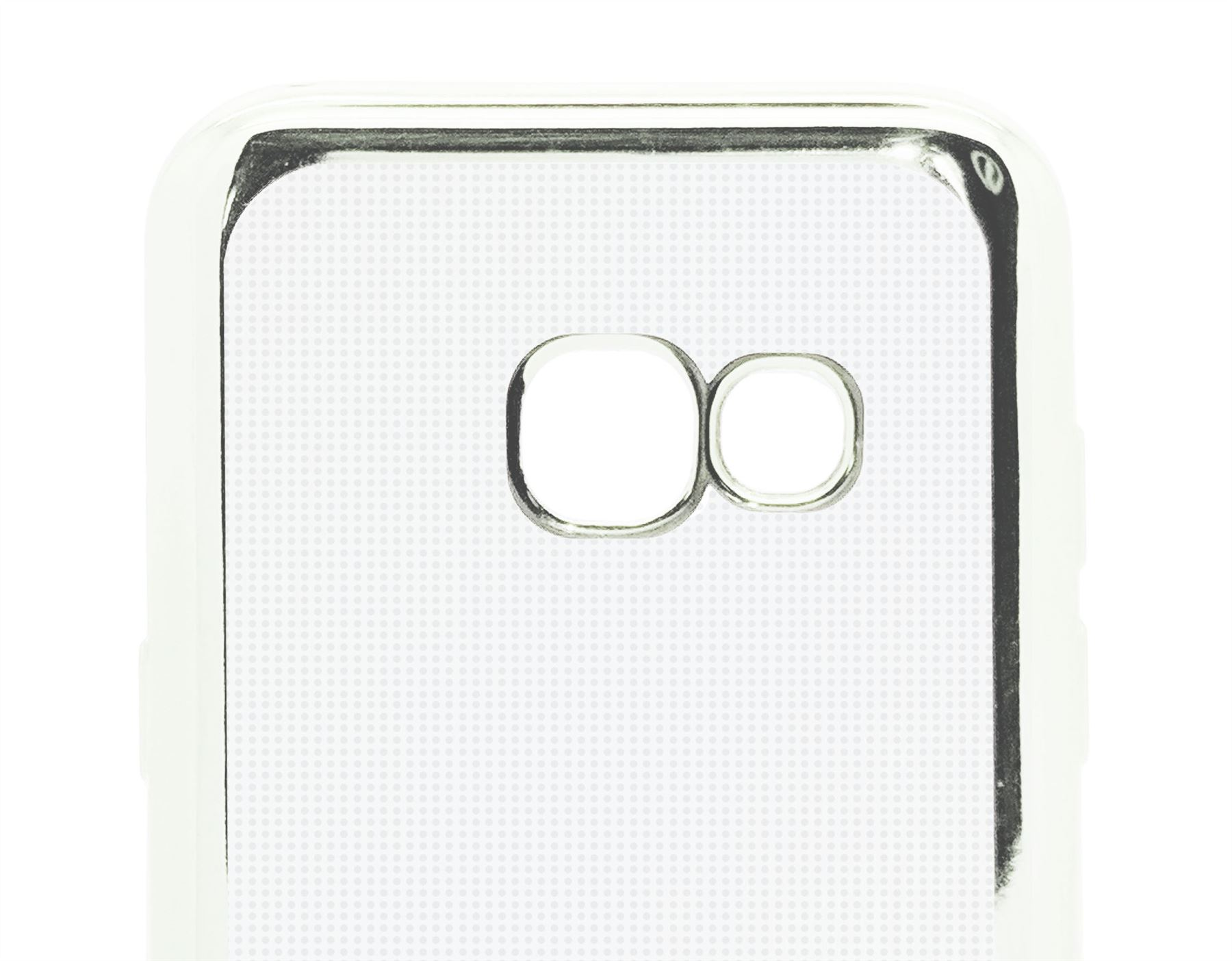 Clear Gel Chrome Effect Bumber Edge Case For Samsung