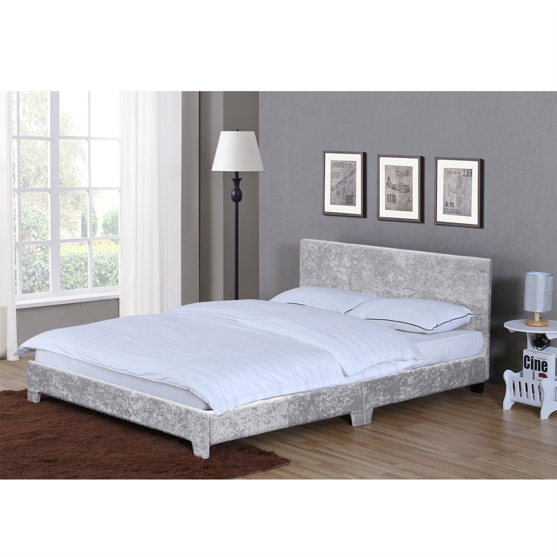 Victoria Double King Bed 4ft6 5ft Modern Upholstered