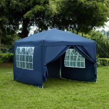3x3m Sides Pop Marquee Gazebo Tent Garden Party